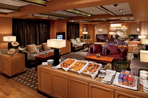 Suite guests can relax and refresh in the Neptune Lounge.