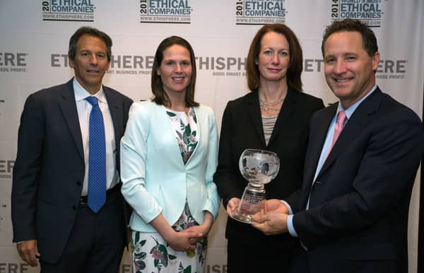 "Holland America Line and Seabourn's Kelly Clark (third from left) was recognized by The Ethisphere Institute for the second consecutive year in its ""2014 Attorney's Who Matter"" list of lawyers in the general counsel category."