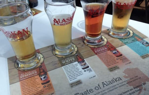 The Alaska Beer Tasting on Alaska cruises is a unique opportunity to try some local brews. Photo by Doug Parker.