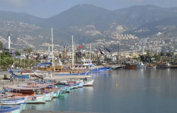 The harbour at Alanya, Turkey, is pretty as a postcard.