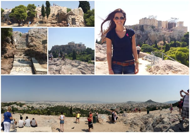 From the bottom, Areopagus just looks like a big rock, but if you climb up the steps you'll enjoy an incredible view.