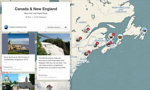 On Pinterest, rely on visual appeal or let the map be your guide!