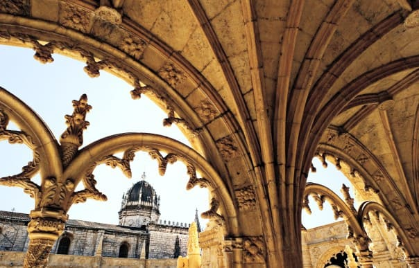 The cloisters at Lisbon's Jeronimos Monastery are an impressive display of architecture.