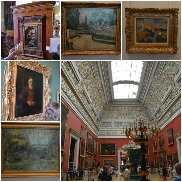 The Hermitage houses a collection of works by Monet, Rembrandt, da Vinci and more.