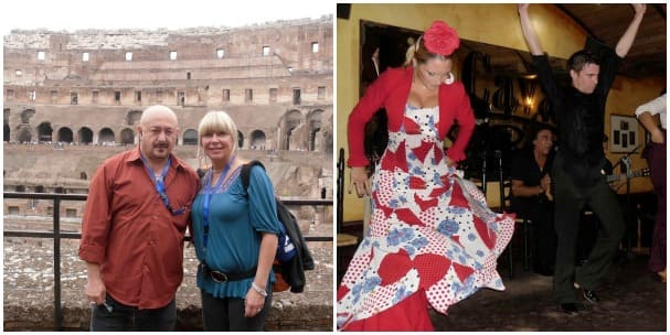 Nick & Caroline Scime  enjoyed sites like the Colosseum and local entertainment.