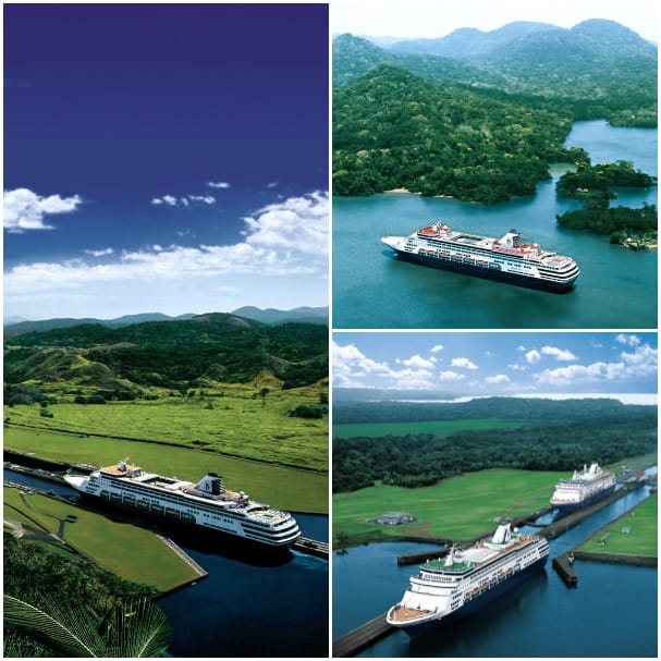 Holland America Line ships transit the Panama Canal several times a year.