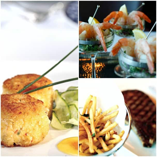 The crab cakes, shrimp cocktail, shoestring fries and steak are all Pinnacle Grill favorites.