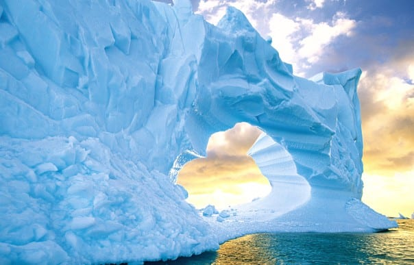 A cruise around South America and down to Antarctica, above, is filled with sun and snow.