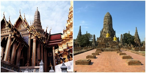 The Temple of the Emerald Buddha, left, and Ayutthaya are magical sights to behold.