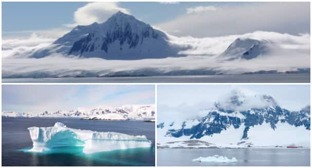 Antarctica cruises are filled with spectacular sights like the ones in these photos taken by Prinsendam's Chief Engineer Jaap Wise (top) and guest Sharon Johnson (bottom).