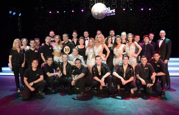 "The ""Dancing with the Stars: At Sea"" professional dancers, celebrities and production staff put on dazzling performances every theme cruise."
