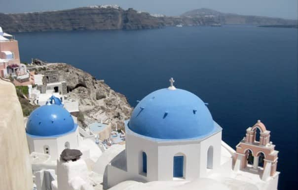 Santorini ranks tops among guests, including Mary Nichols, who snapped this photo.