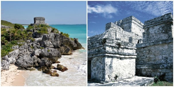 Tulum is the only Mayan city built right on the coast.