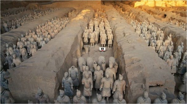 The Terra Cotta Warriors were created to protect China's first emperor, Qin Shihuang, in death.
