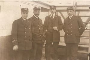 Captain Sjerp. Here seen as 2nd officer, first on the left