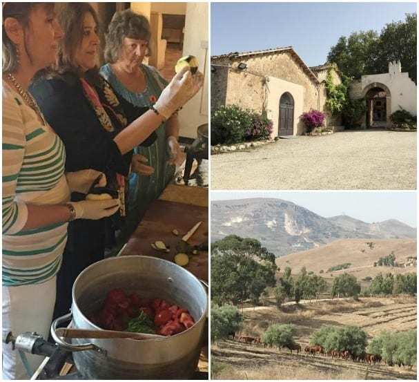 Sicilian cooking lesson at agritourismo farm Antica Masseria from Baroness Di Salvo. - Anita