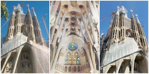 "Gaudi's La Sagrada Familia is a ""must see"" when visiting Barcelona. Three shots from left: Jocelyn, Gail and Lisanne. Gail wrote on Twitter ... #bucketlist!"