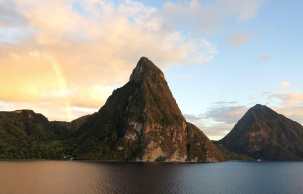 Guest Lin Yeazel snapped this beautiful photo of the Pitons on her Caribbean cruise, which is eligible for Explore4 savings.