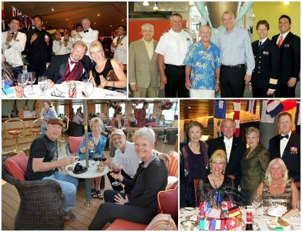 Jeff was welcomed onboard by top executives and officers, top right, and enjoyed seeing friends.
