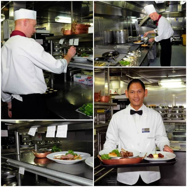 The culinary team is working hard to masterfully prepare each dish.