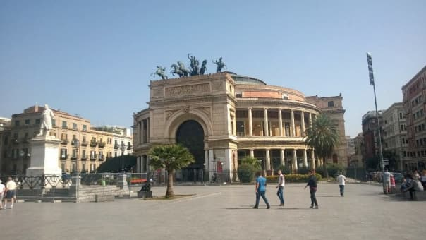 Nice shore excursion @HALcruises in Palermo today. This is Teatro Politeama at the main square. - Lisanne