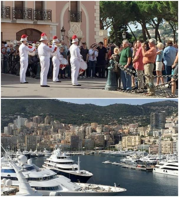 Changing of the guard at Monaco palace no Prince or princess sightings. - Anita