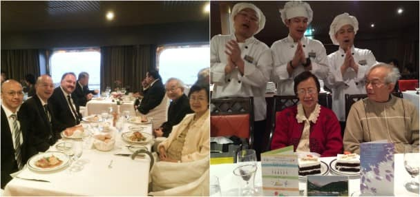 The Tham family enjoyed great food and friendly service as Mr. and Mrs. Tham celebrated their Golden Anniversary.