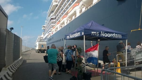 Welcome @halcruises MS Noordam! #Hollandamerica - Lisanne