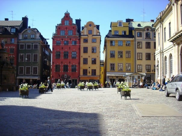 Take a stroll through historic Stockholm.