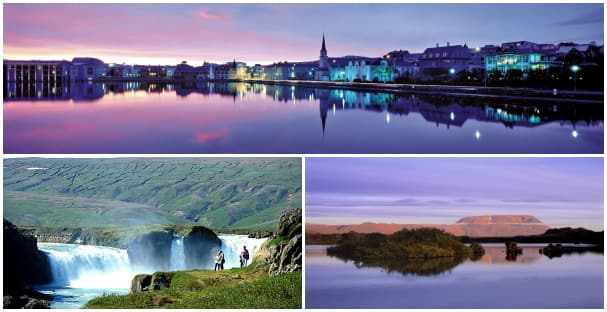 See why Reykjavik (top) and Akureyri are on almost everyone's bucket list.