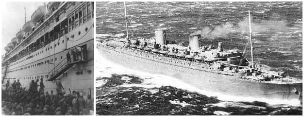 Nieuw Amsterdam II steamed a total of 530,452 miles as a troop ship in WWII.