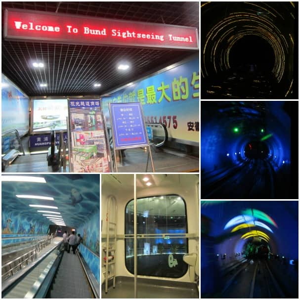 The Bund Sightseeing Tunnel puts on a fantastic light show.