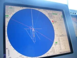 How they did it. Put the bow in the calculated position, have a blue circle on the pool location and then watch the predictor (2nd ship's layout on the screen). As long as the predictor stays on top of the ship, the ships maintains position.