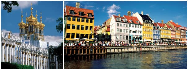 Enjoy more of destinations with overnight calls at places like St. Petersburg, Russia, and Copenhagen, Denmark.