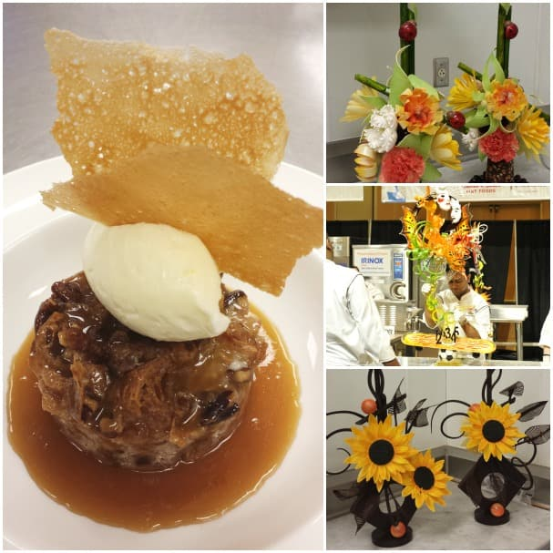 Guests were able to have Chef Chowdhury's White Chocolate Bread Pudding for dessert; and a sample of the chef's incredible sugar and chocolate sculptures.