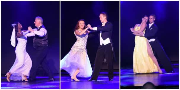 From left: Ian, Matthew and Brenton performing the waltz.