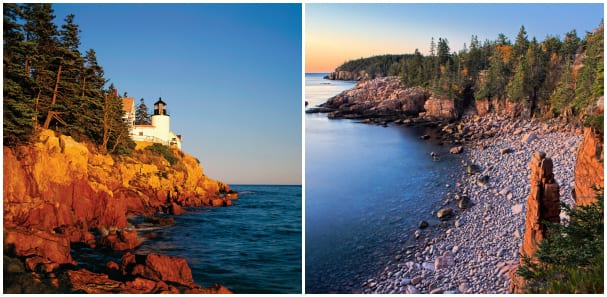 Acadia National Park features beautiful natural scenery.