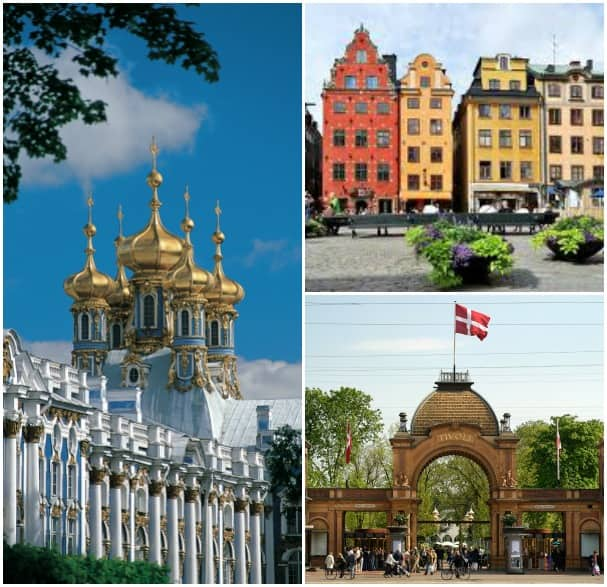 Calls at St. Petersburg, Stockholm and Copenhagen are featured on the Baltic cruises. Guests can explore each port on tours like An Evening at Tivoli Gardens on Your Own and Edinburgh Highlights & Castle.