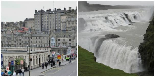 Edinburgh, Scotland, left, and Reykjavik, Iceland, are two of the calls on the Northern Isles cruise. Photos courtesy of Jaap Wisse, left, and Jan Yetke.