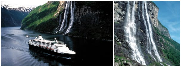 The Seven Sisters Waterfalls in Geiranger Fjord are as impressive as they are picturesque.