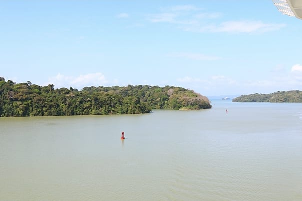 Gatun Lake, islands and jungle.