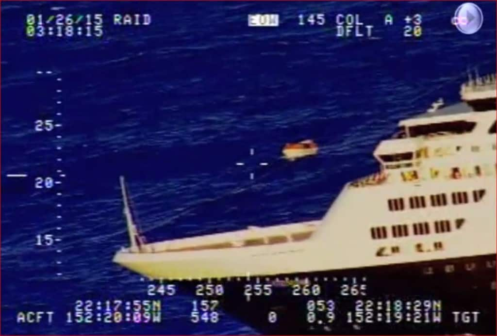 Veendam comes to the rescue in this screen capture take from the video.