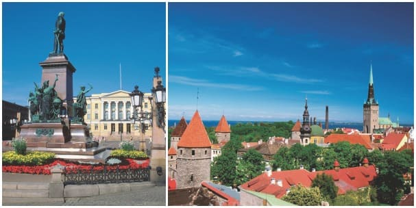 Gorgeous ports in the Baltic await, like Helsinki, Finland, and Tallinn, Estonia.