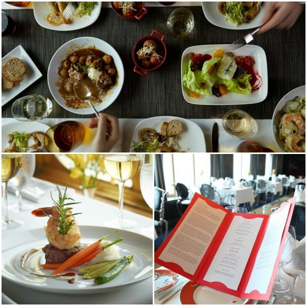 All of the fine dining options on Nieuw Amsterdam contributed to the win for Best Dining, including (clockwise from top) Canaletto, Le Cirque in the Pinnacle grill and the main dining room.