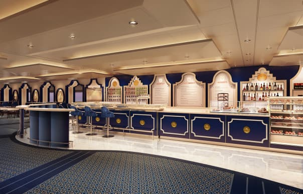 The new Grand Dutch Cafe celebrates Holland America Line's rich Dutch heritage.