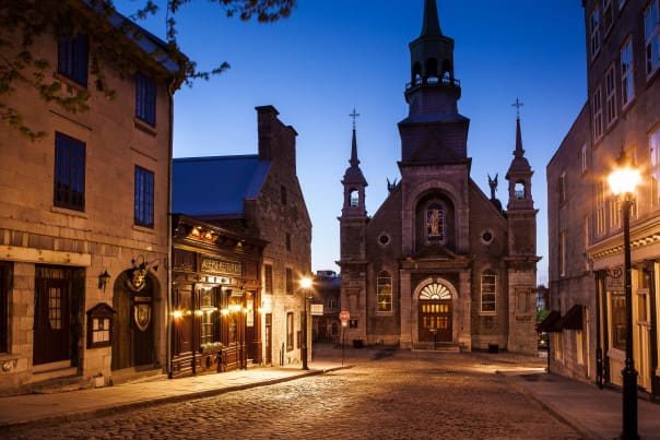 "Montreal is famous for its churches and is nicknamed ""The City of a Hundred Steeples."""