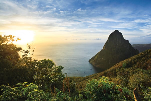 The Pitons of St. Lucia are among the most impressive sights in the southern Caribbean.