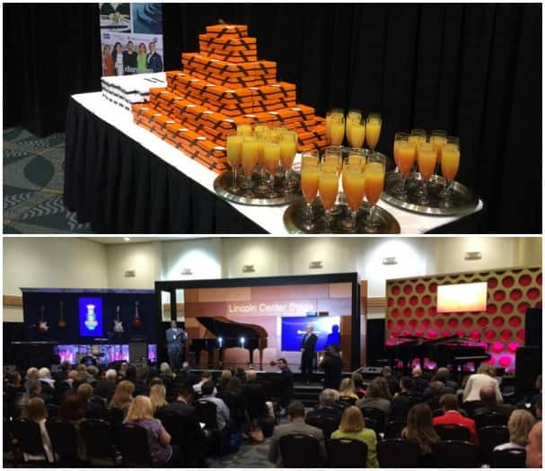 At the Holland America Line press conference, attendees were given delicious chocolates from Culinary Council member Jacques Torres, in the orange boxes, and tasty concoctions to toast to the new partnerships.