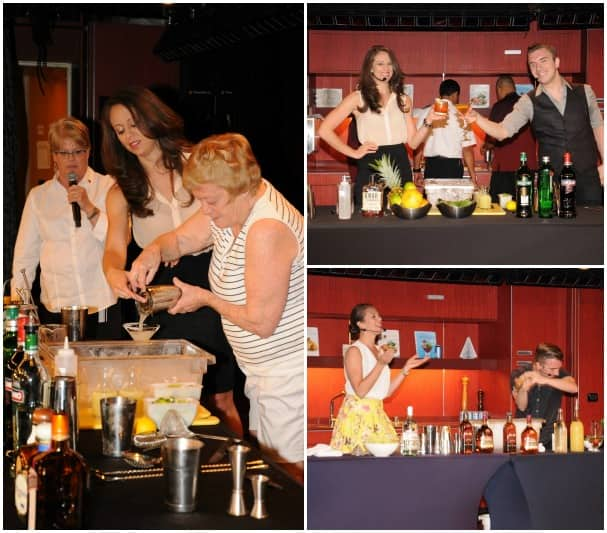 Mixologists Pamela Wiznitzer and Chris Lowder had a great time during drink-making demos.