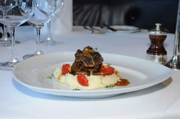 Chef Lumley's Guinness braised short ribs.